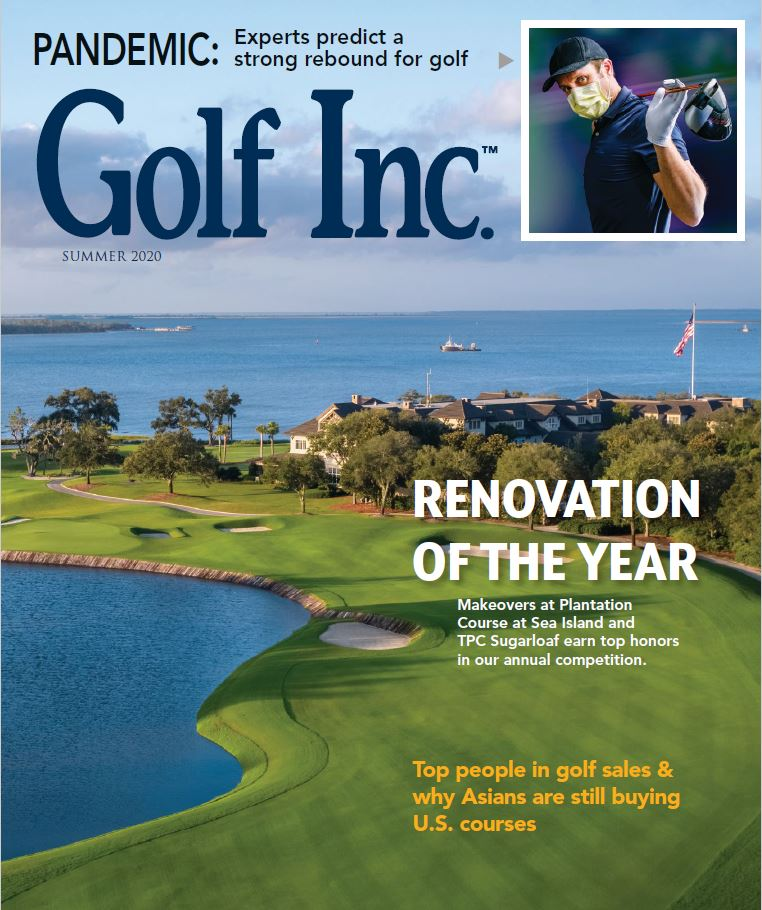 "Pandemic: ""Experts predict a strong rebound for golf."" (See Pages 6, 7 ,8, and 20 for quotes from Steve Ekovich, of Leisure Investment Properties Group, a Division of Marcus & Millichap)"